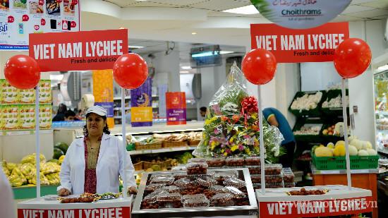 Vải thiều Việt Nam ra mắt khách hàng Dubai, UAE