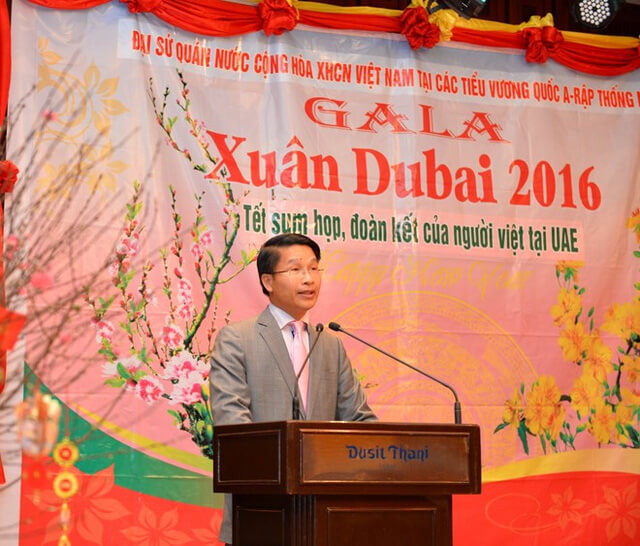 Vietnam Embassy in the UAE celebrating Lunar Hare welcome spring