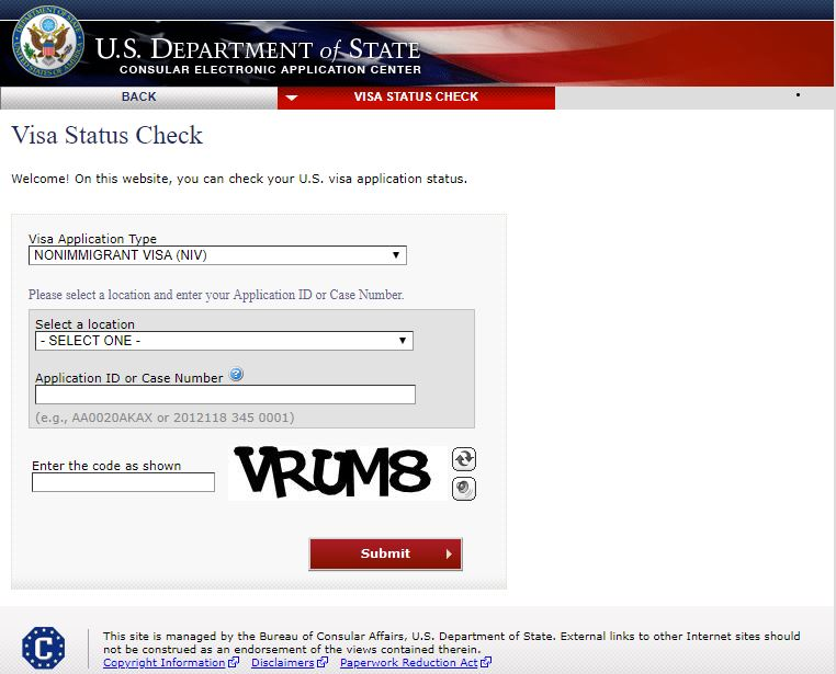 kiểm tra tình trạng hồ sơ xin visa Mỹ
