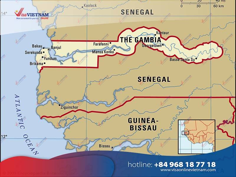 How many ways to get Vietnam visa in Gambia?